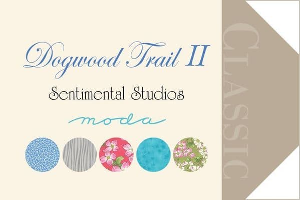 Moda - Dogwood Trail II, Floral - Pink Cotton Patchwork Fabric